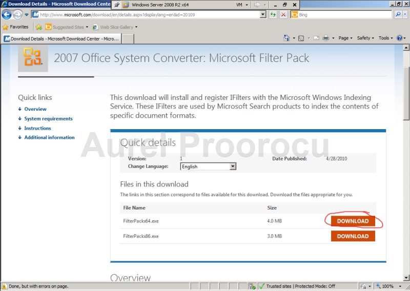 How to install exchange 2010 in virtual environment step - Office filter pack for exchange 2010 ...