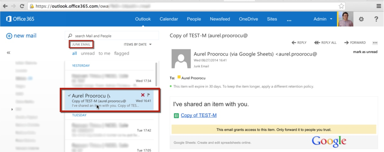 google office contact. adding the respective domain on office 365 whitelist (ex. @domain-that-is-hosted-on-google-apps.com) \u2013 creating a contact your outlook online with google