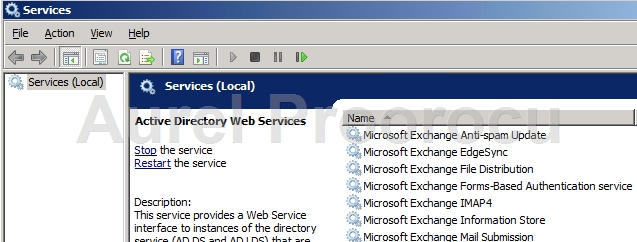 Microsoft Exchange Active Directory Topology Provides Information To Services If This Service Is Stopped