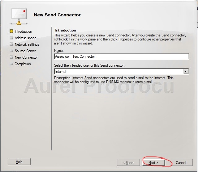How to create a send connector in Exchange 2010 ? Step by