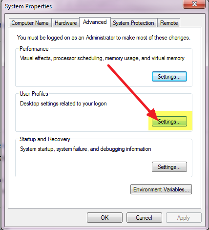 How to delete a user profile on a Windows 7 computer that is